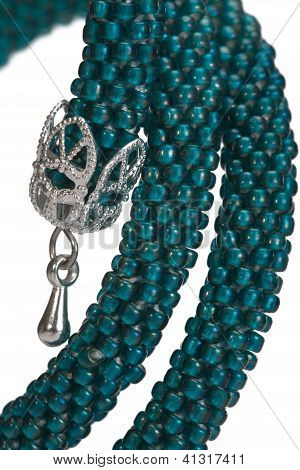 Stylish Hand-worked Bracelet From Color Beads.