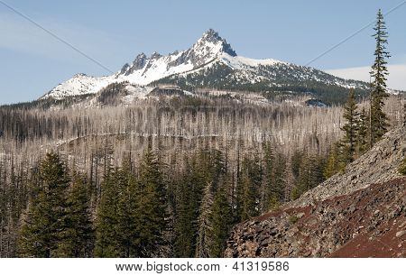 Three Fingered Jack Cascade Range Oregon State Usa