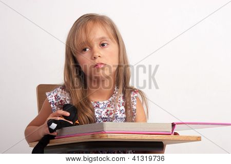 Girl Trying To Learn