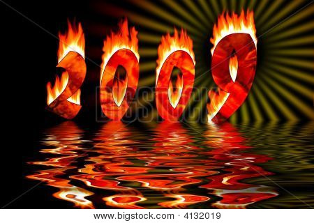 2009 Numbers In Fire Flooding Water