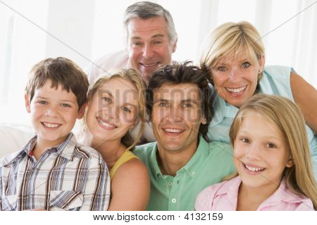 Families Indoors Together Smiling