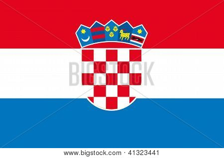 Illustrated Drawing of the flag of Croatia