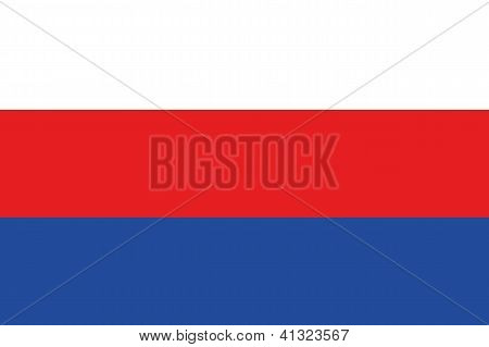 Illustrated Drawing of the flag of Serbia