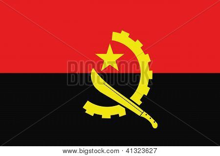 Illustrated Drawing of the flag of Angola