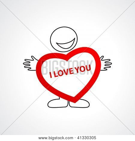 icon - I love you. vector template
