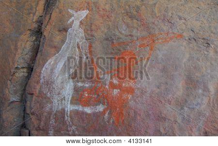Aboriginal Kangaroo Rock Art