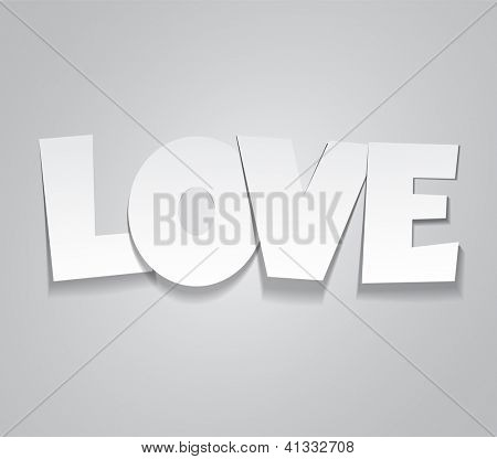 Vector illustration paper sticky love message. Eps10.