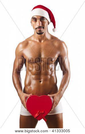 Nude Santa isolado no branco
