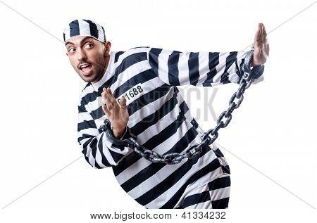 Condenação penal de uniforme listrado