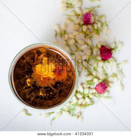 Flowering Tea and Dry Flowers