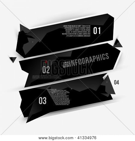 Moder abstract banner design for infographics, business design and website templates, cutout lines and numbers, retro colors. Esp 10 vector illustration