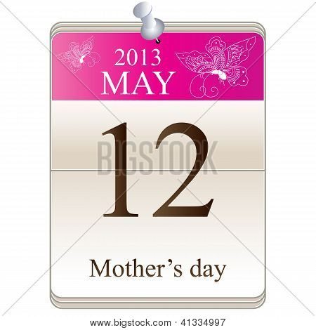 Calendar Of Mothers Day 2013
