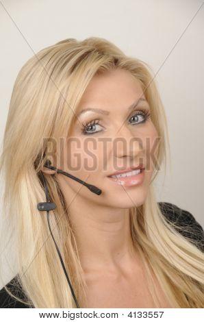 Talking On Headset