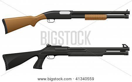 Shotgun Vector Illustration