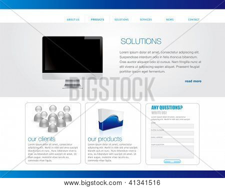 Business website template. Vector format in portfolio