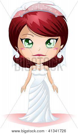 Noiva vestida para o seu dia de casamento 2