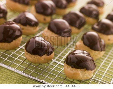 Chocolate Dipped Profiteroles