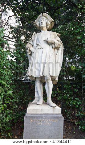 Statue Of Bernard Van Orley (circa XIX c.), Brussels, Belgium