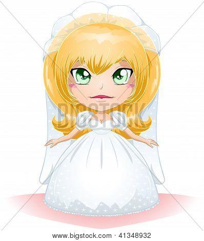 Noiva vestida para seu casamento dia 3