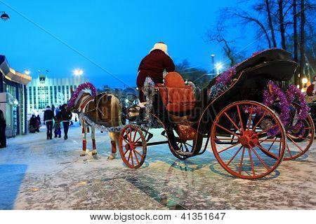 Santa Claus As Coachman