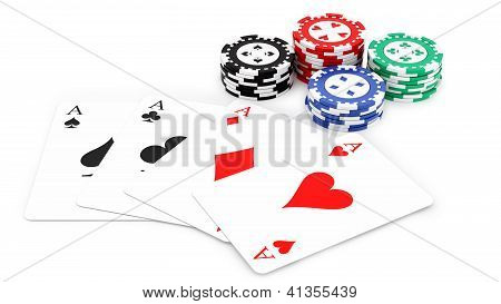 aces and casino chips