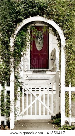 Cottage Door And Arbor