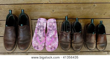 Flowers Among Boots
