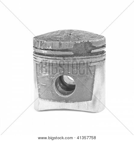 Damaged Piston From The Detonation In The Engine