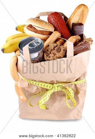 Alimentos y el concepto de dieta, consumir menos alimentos
