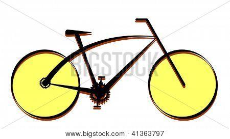 Modern bike icon, vector