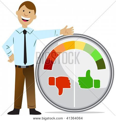 An image of a rating meter man.