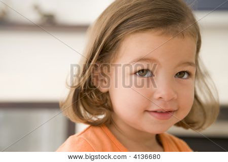 Young Girl Indoors
