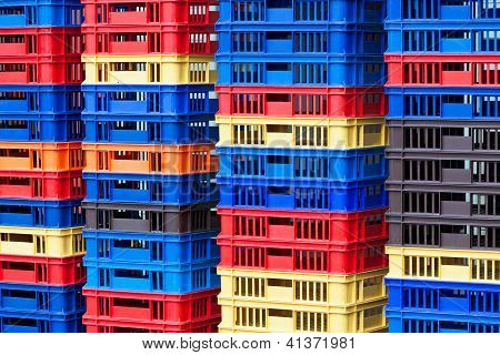Plastic Containers Piles