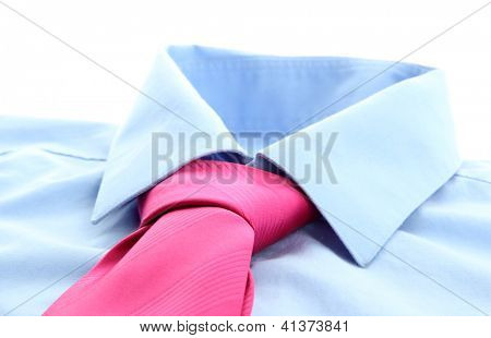 tie on shirt isolated on white