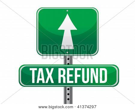 Tax Refund Sign