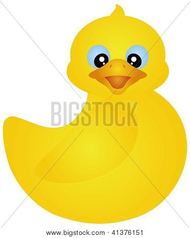 Swimming Yellow Ducky Illustration