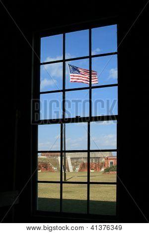 Vintage civil war flag