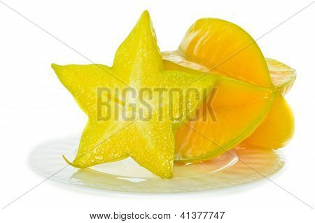 The Star Fruit Is Rich In Juice.
