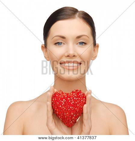 imagens brilhantes de mulher bonita com coração