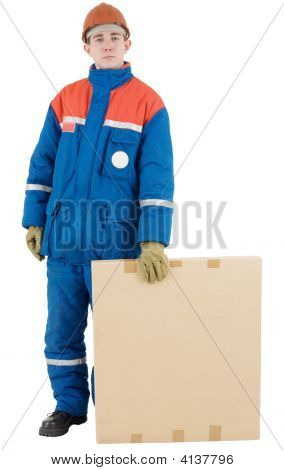 Labourer With Box