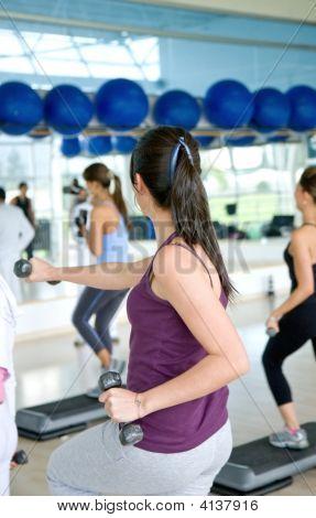 Menschen an ein Fitness-Studio-Klasse