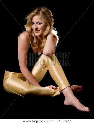 Woman In Tight Yellow Pants