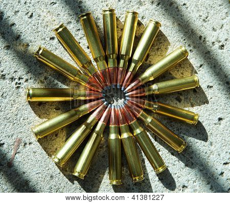 rifle ammunition circle