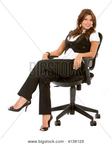 Business Woman Sitting