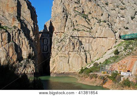 El Chorro Gorge, Andalusia, Spain.