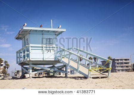 Lifeguard Station,venice Beach, Los Angeles, Usa