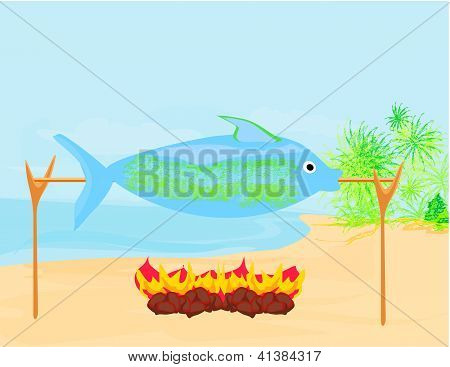 Fish In The Spit