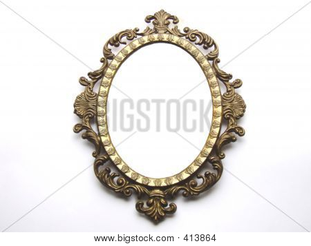 Old Round Photo Frame