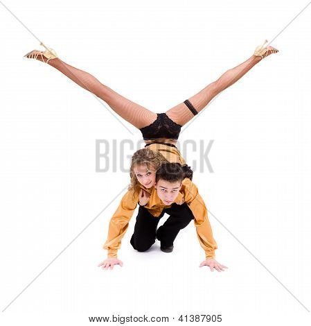 Two Young Modern Acrobats Posing