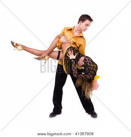 Two Young Modern Acrobats Dancing